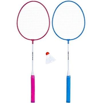 Zestaw do badmintona NR003 Nils rakiety stalowe