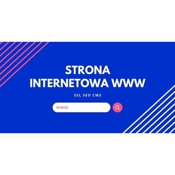 STRONA INTERNETOWA WWW + POZYCJONOWANIE CMS SEO