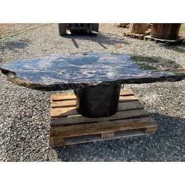 Stół z Blatem Granitowym stelaż Dębowy