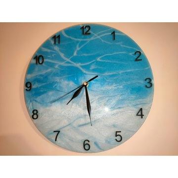 Zegar z żywicy epoksydowej, rękodzieło