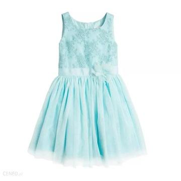 Sukienka tiul niebiesk świeta komunia 128 CoolClub
