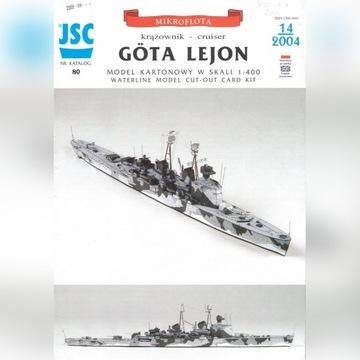 Krążownik model kartonowy Gota Lejon