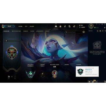 Konto League of Legends EUNE Plat IV 49ch19s 67%WR