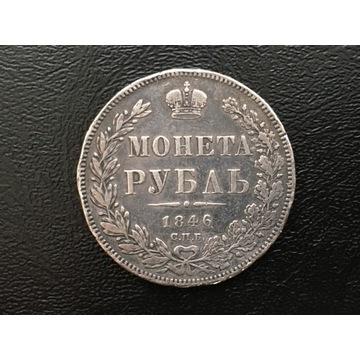 MONETA 1 RUBEL 1846 ORYGINAŁ SREBRO - ROSJA