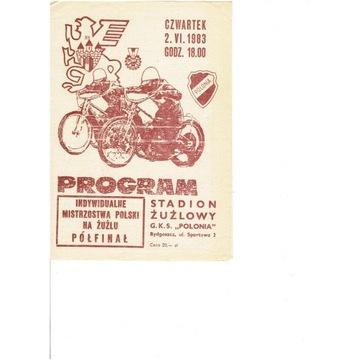 IMP 1983 r półfinał  Bydgoszcz