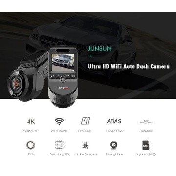 Rejestrator / kamera samochodowa Junsun S59 4K GPS