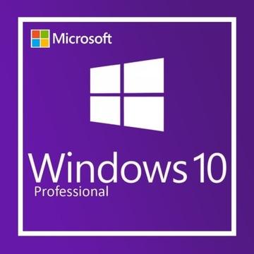 Microsoft Windows 10 Professional 32/64b Klucz PL