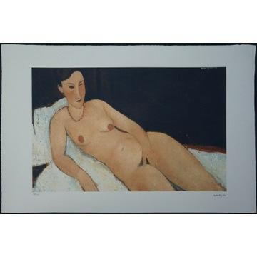Amedeo Modigliani Akt leżący 51x78cm