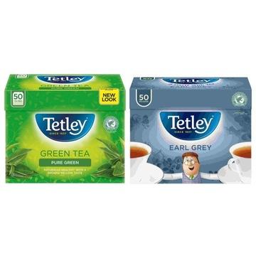 Tetley Zielona i Earl Grey 2x 50 bags - zestaw UK