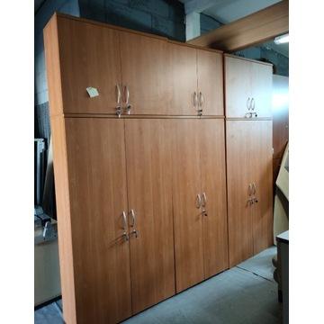 Szafa biurowa 2-drzwiowa + nadstawka z kluczykami