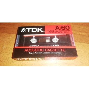 Kaseta magnetofonowa, TDK 60, folia, japan.