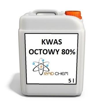 Kwas Octowy 5 litrów