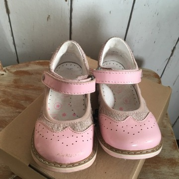 Bartek buciki dziewczynka baletki 25 różowe skóra