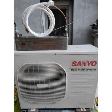 Klimatyzacja + Pompa Ciepła Sanyo Inv 6,8kW SWEP