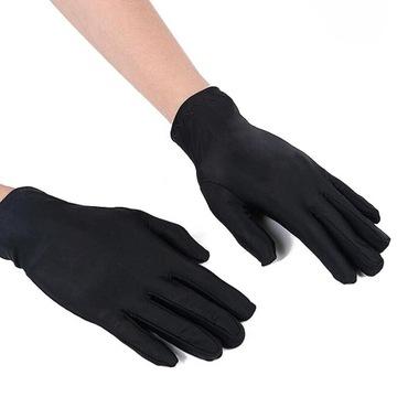 Rękawiczki białe czarne wiosna lato miękkie