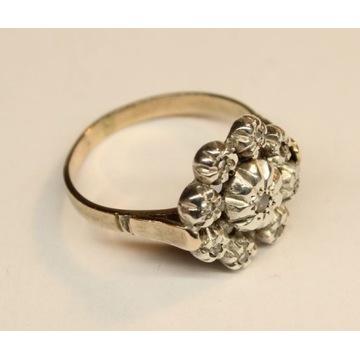zabytkowy pierścionek ok. 1930 diamenty