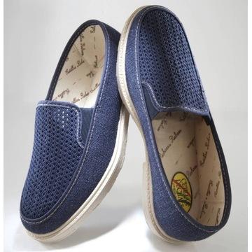Wygodne i przewiewne buty, różne rozmiary, morski