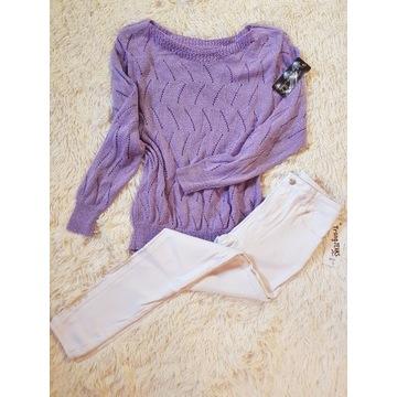 Sweterek liliowy