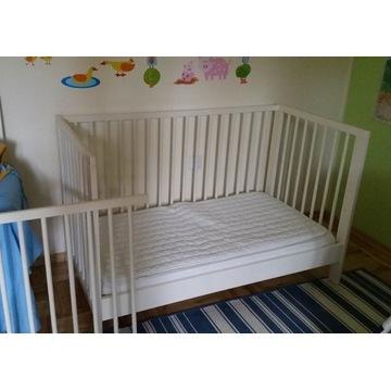 Łóżeczko dziecięce drewniane IKEA białe