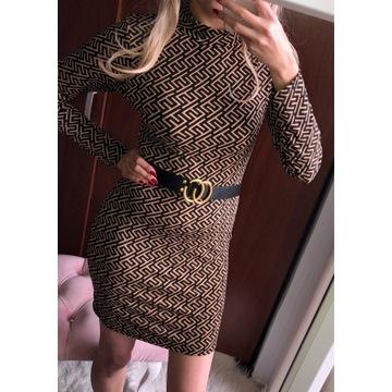 Piękna sukienka oversize Fendi LV Guess