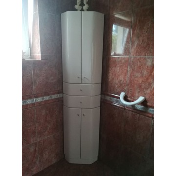 Szafka łazienkowa narożna lakierowana