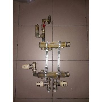 Rozdzielacz podłogówki 3 zawór termostatyczny