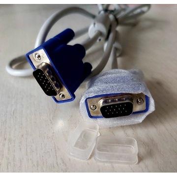 Kabel VGA D-SUB standard 1,8m biały