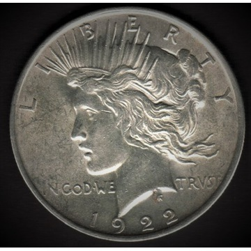1 dolar USA - Peace Dollar 1922 - stan menniczy