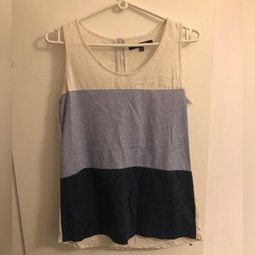 Bluzka w paski koszulka bez rękawów Reserved XS