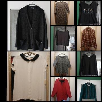 Zestaw ubran kurtki bluzki