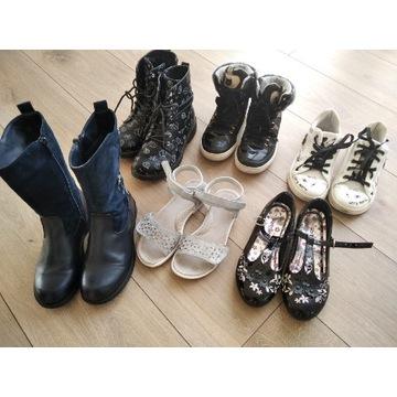 Zestaw buty dla dziewczynki dziecko buciki 34 35