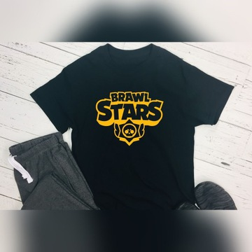 Nadruk Brawl Stars na koszulce żółty. Wrocław