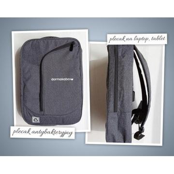 Usztywniany antybakteryjny plecak na laptop tablet