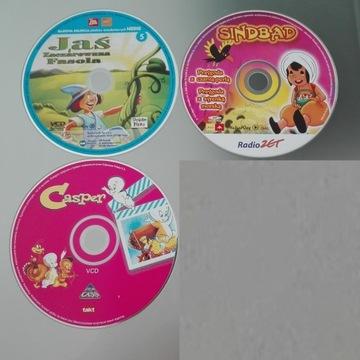 Filmy dla dzieci 3xCD (Sindbad, Casper, Jaś i..)