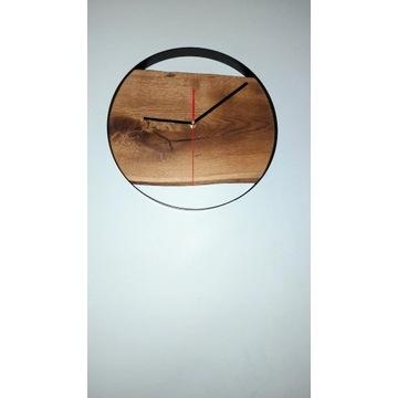 Zegar loft dębowy