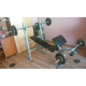 Zestaw do ćwiczen, siłownia OKAZJA