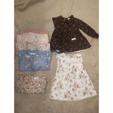 Ubranka dla dziewczynki KappAhl Newbie 68 sukienka