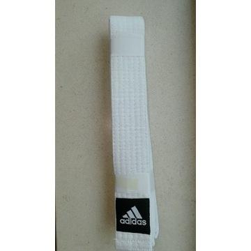 Biały pas do judo Adidas 160 cm