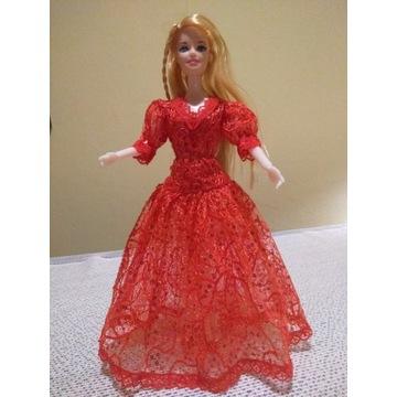 Suknia balowa dla lalki 30cm-nowa-DZIEŃ DZIECKA