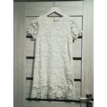 BONPRIX sukienka gipiura koronka święta 152 NOWA