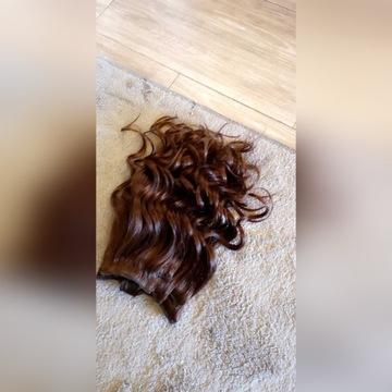 Włosy indyjskie naturalne clip in doczepiane 50cm