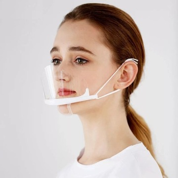 Mini przyłbica maska na usta i nos z plexi