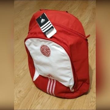 Czerwono biały, plecak Adidas, męski