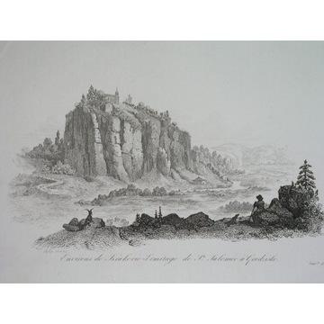 1836 ORYGINAŁ KRAKÓW Galicja klasztor panorama