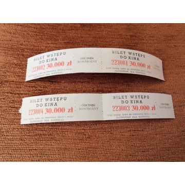 Stare bilety do kina