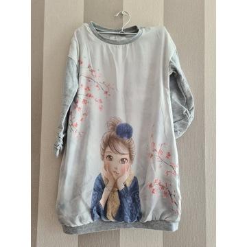 Tunika bluza dziewczęca 128
