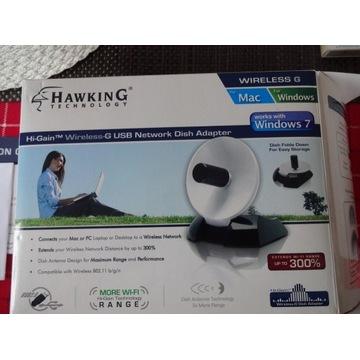 HAWKING HWU9DD Antena ,wzmacniacz WiFi, USB