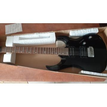 Gitara z wzmacniaczem Cort X1 BK i Ibanez IBZ10GV2