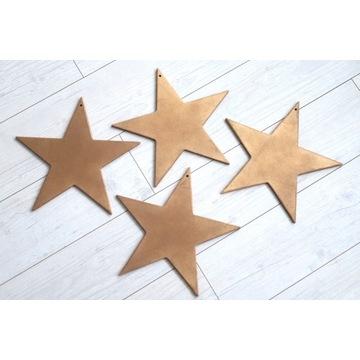 zestaw drewniane gwiazdy 7 szt różne rodzaje