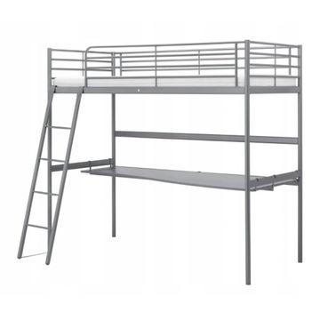 Łóżko na antresoli z blatem Ikea Svarta 90x200cm
